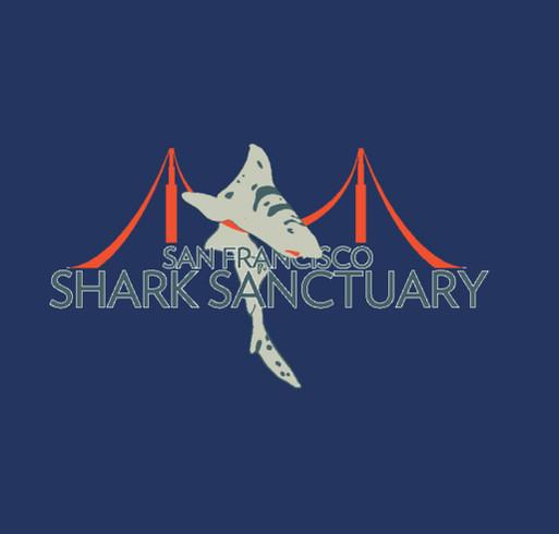 Sanctuary for Sharks shirt design - zoomed