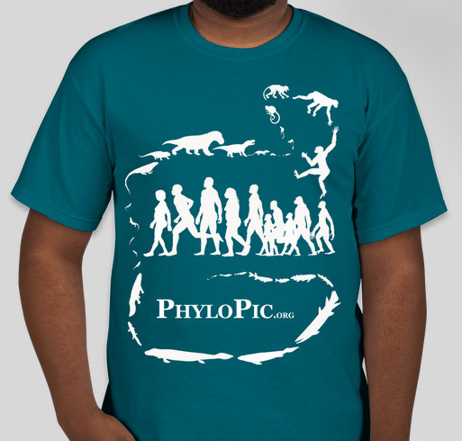 PhyloPic - free silhouettes of life forms Fundraiser - unisex shirt design - front