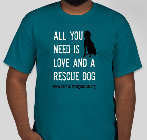 Derby city dog rescue t shirt fundraiser custom ink for Non profit t shirt fundraiser