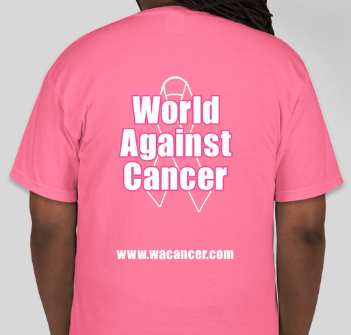 World Against Cancer Fundraiser - unisex shirt design - back