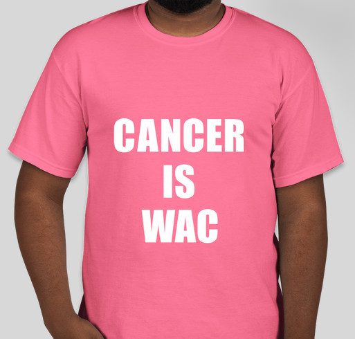 World Against Cancer Fundraiser - unisex shirt design - front