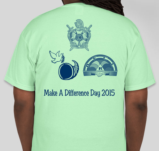 Masonic Family Make a Difference Day 2015 Shirts! Fundraiser - unisex shirt design - back