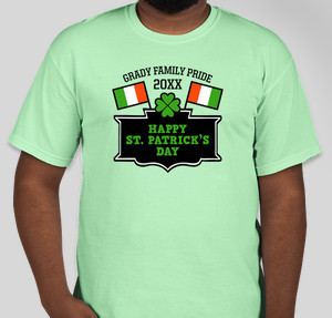 St patricks day t shirt designs designs for custom st for Custom t shirts one day delivery