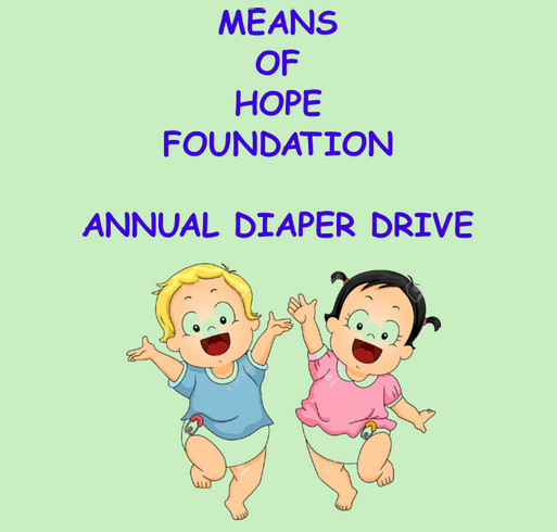 Means Of Hope Annual Diaper Drive shirt design - zoomed