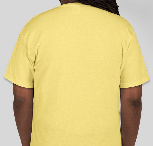 Be The Yellow Fundraiser - unisex shirt design - back