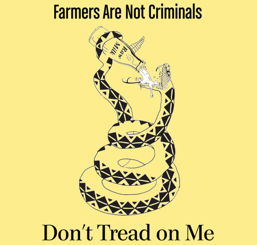 Image result for raw milk don't tread on me shirt