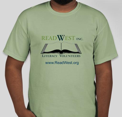 ReadWest Adult Literacy Fundraiser - unisex shirt design - front