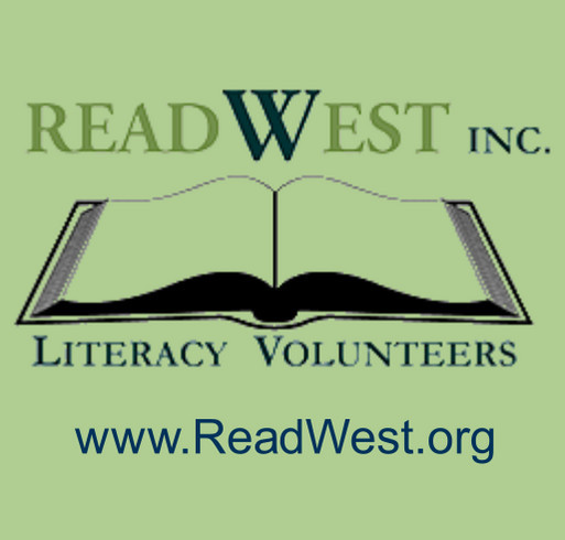 ReadWest Adult Literacy shirt design - zoomed