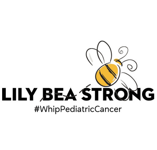 Lily Bea Strong x Whip Pediatric Cancer shirt design - zoomed