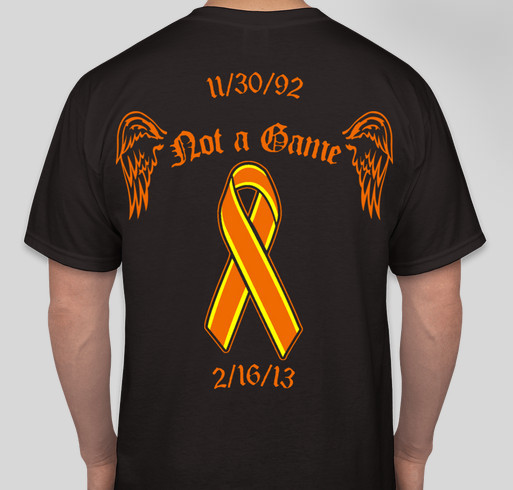 Vincent James Memorial Fundraiser - unisex shirt design - back