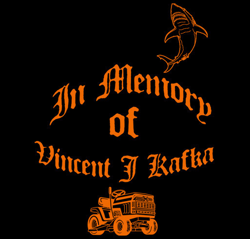 Vincent James Memorial shirt design - zoomed