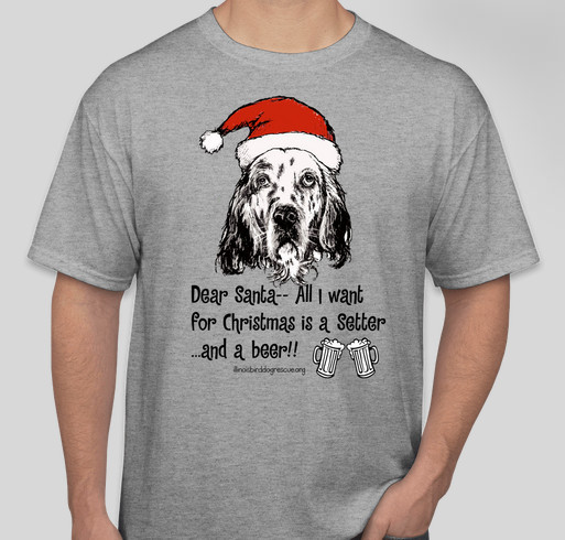 SetterChristmas Fundraiser - unisex shirt design - front