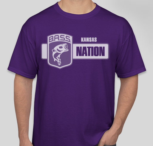 Kansas BASS Nation T-shirt Drive. Fundraiser - unisex shirt design - front