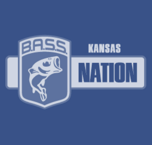 Kansas BASS Nation T-shirt Drive. shirt design - zoomed