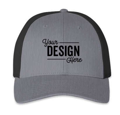 Richardson Low Profile Trucker Hat - Heather Gray / Dark Charcoal