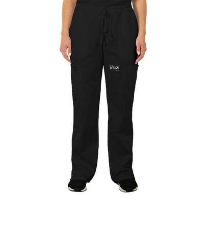 Cherokee Workwear Revolution Women's Drawstring Cargo Scrub Pant - Black