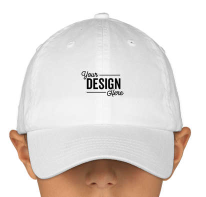 Canada - Valucap Youth Bio-Washed Hat - White