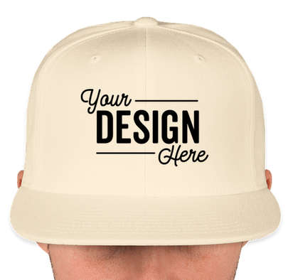 Canada - Yupoong Flat Bill Snapback Hat - Natural