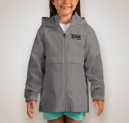 Team 365 Youth Zone Protect Lightweight Jacket - Sport Graphite