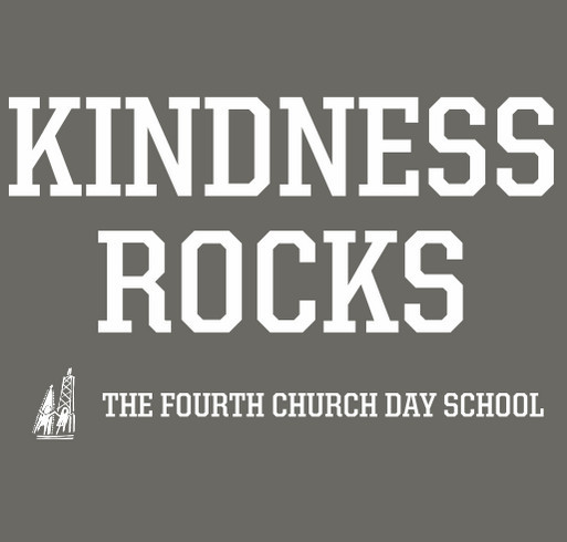 Kindness Rocks - The Fourth Church Day School shirt design - zoomed