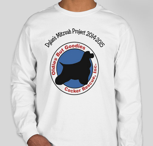 Dylan's Mitzvah Project to help Oldies But Goodies Cocker Spaniel Rescue Fundraiser - unisex shirt design - front