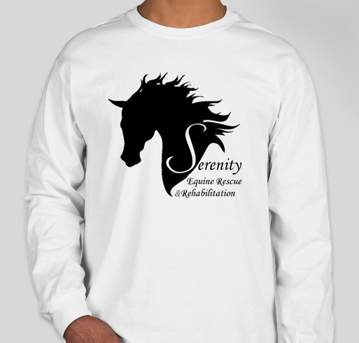 Serenity equine rescue t shirt fundraiser custom ink for Adoption fundraiser t shirts