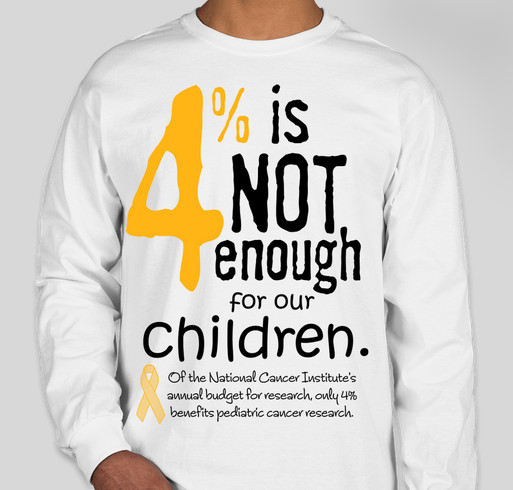 "Enough of the ""rare"" label for DIPG and other childhood cancers! Fundraiser - unisex shirt design - front"