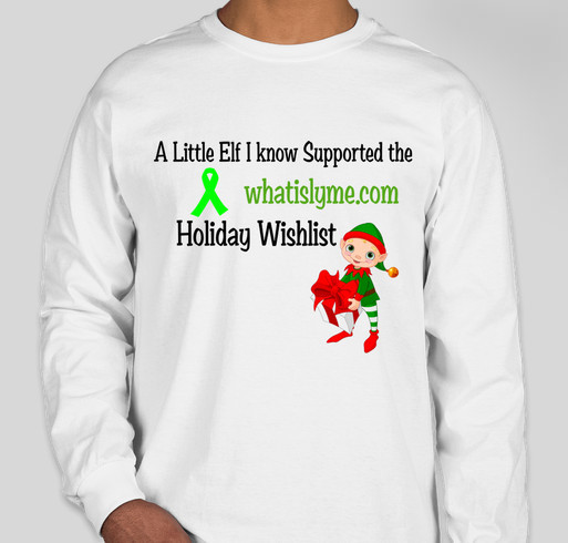 Whatislyme.com Holiday Wishlist 2014 Fundraiser - unisex shirt design - front