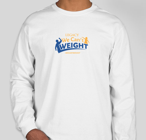 WE CAN'T WEIGHT™ To Stay Fit Fundraiser - unisex shirt design - front