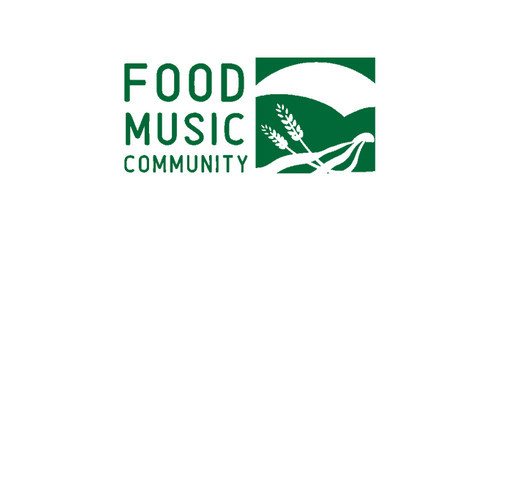 Food Music Community shirt design - zoomed