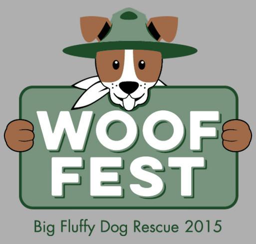 Woof Fest 2015 shirt design - zoomed