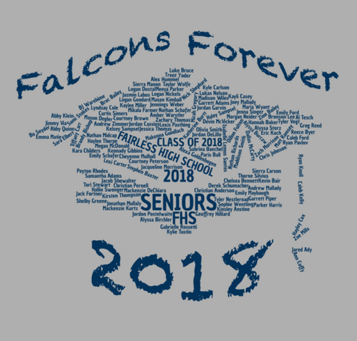 Class of 2018 Apparel shirt design - zoomed