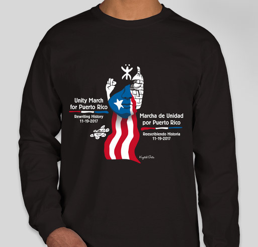 Unity March for Puerto Rico Fundraiser - unisex shirt design - front