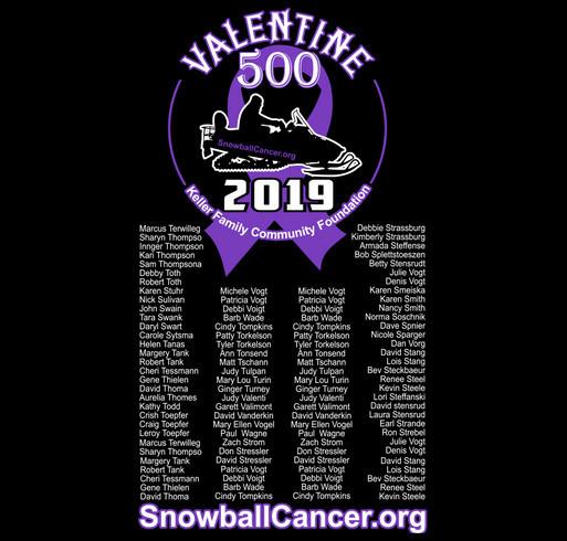 SnowballCancer.org Show your support for those battling cancer! shirt design - zoomed