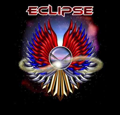 Eclipse recording fundraiser shirt design - zoomed