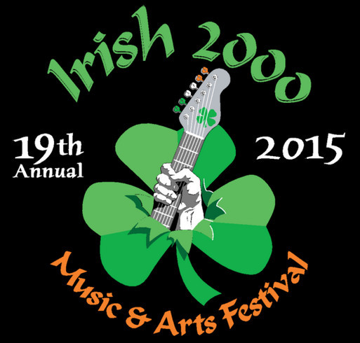 Irish 2000 Music & Arts Festival Fundraiser shirt design - zoomed