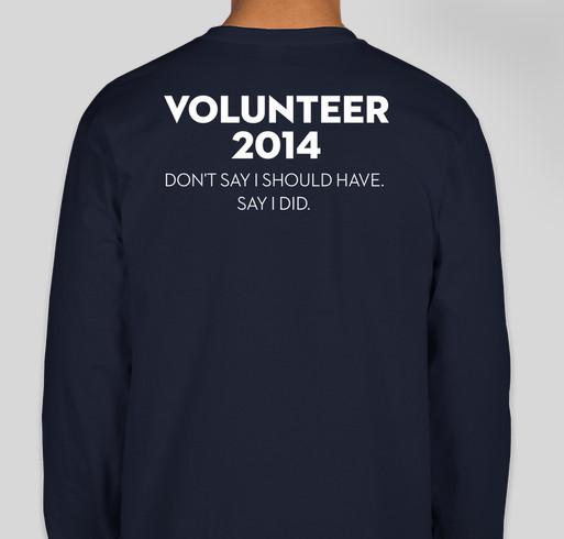 2014 Volunteer Shirts - Wreaths Across America Fundraiser - unisex shirt design - back