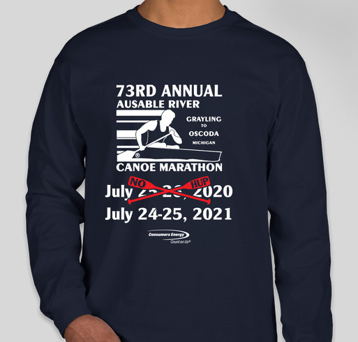 2020 AuSable River Canoe Marathon Fundraiser - unisex shirt design - front