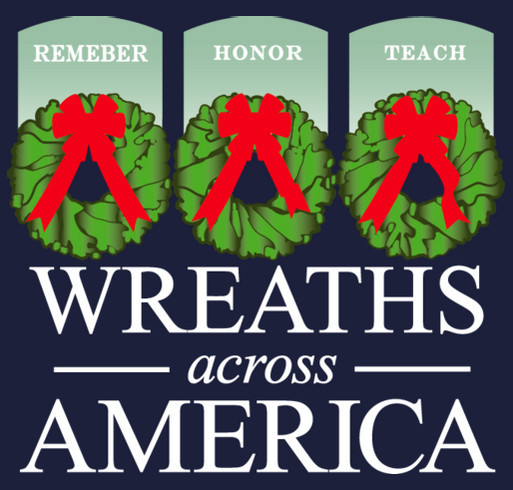 2014 Volunteer Shirts - Wreaths Across America shirt design - zoomed