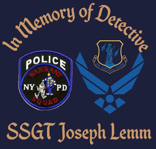 In Loving Memory of NYPD Detective Joseph Lemm shirt design - zoomed