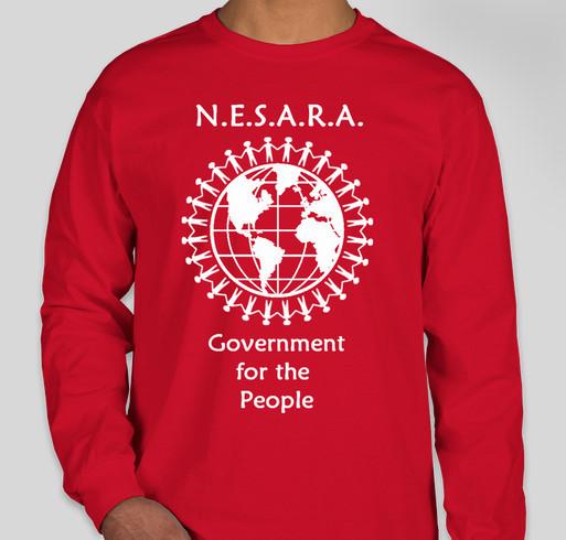 Enact NESARA Now Apparel Fundraiser - unisex shirt design - front