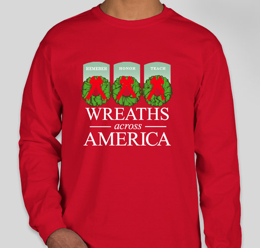 Wreaths Across America Campaign For Arlington's 150th Anniversary Fundraiser - unisex shirt design - front