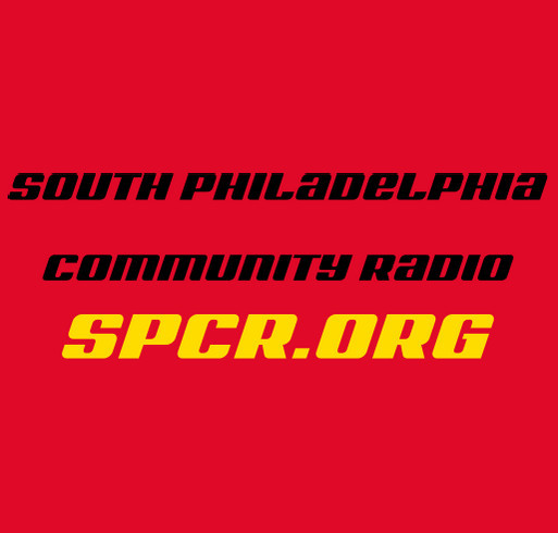 South Philadelphia Community Radio T-Shirt Fundraiser shirt design - zoomed