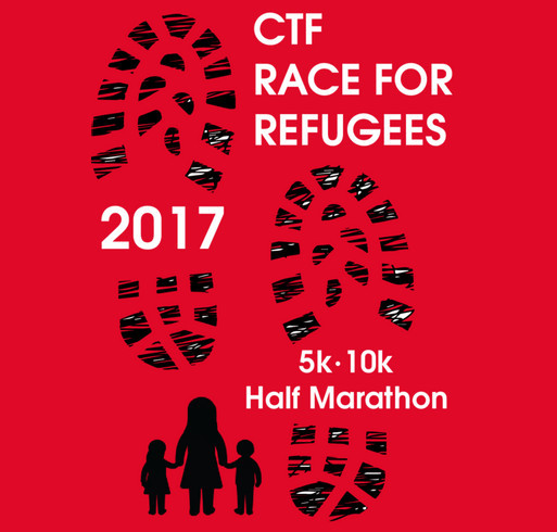Carry the Future 2017 Race for Refugees shirt design - zoomed