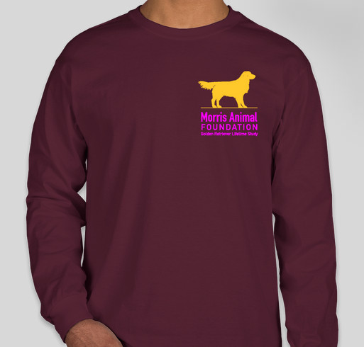 Golden Retriever Lifetime Study/Morris Animal Foundation Fundraiser - unisex shirt design - front