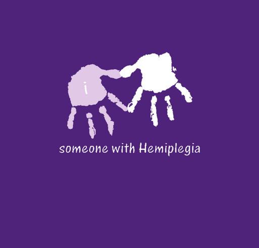 I *heart* someone with Hemiplegia (Right Hemi) shirt design - zoomed