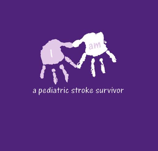 I am a stroke survivor - right hemi shirt design - zoomed