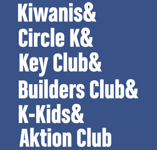 Kiwanis Family Shirt Fundraiser shirt design - zoomed
