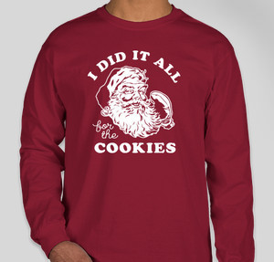 did it all for the cookies