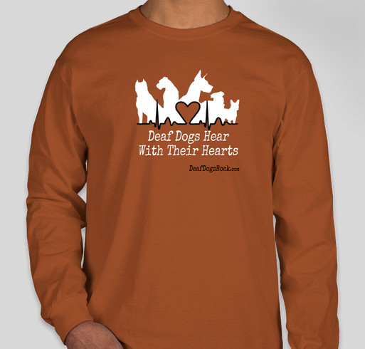 Celebrate National Deaf Dogs Rock Day - Support Deaf Dogs In Need with a Great DDR Shirt Fundraiser - unisex shirt design - front